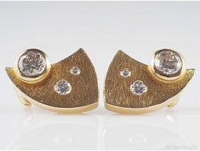 Ohrringe Ohrstecker 1,60 Karat Brillanten Diamanten 750 Gold
