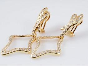 Ohrclips Ohrringe 3,20 Karat Brillanten 750 Gold 18 Karat Wert: ca. 6.330,- EUR