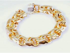 Herren Damen Armband 750 Gold ca. 115,20 Gramm Italien um 1980