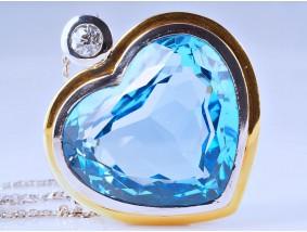 Anhänger Kette 30,50 Karat Diamant Topas 750 Gold Wert: ca. 7.400,- EUR