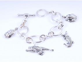 Juwelier Barry Kieselstein Cord Bettel Armband 925 Sterling Silber Jahr 2004