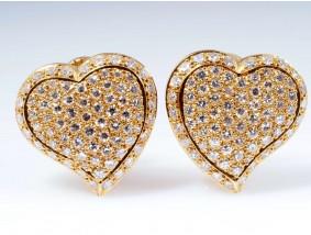 Juwelier Laudier Herz Ohrclips Ohrringe Diamanten 750 Gold