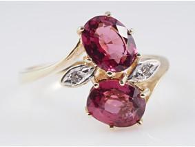 Ring 3,02 Karat Diamanten Turmaline 585 Gold 14 Karat