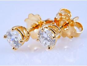 Ohrstecker Ohrringe 0,86 Karat Solitär Brillanten 750 Gold zwei IGI Expertisen