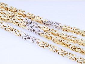 bicolor endlose Königskette Kette Collier 585 Gold Handarbeit ca. 44,40 Gramm