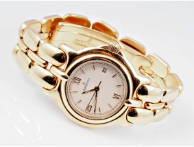 Bertolucci Model: Pulchra Herren Damen Armband Uhr Quartz 750 Gold Box Papiere