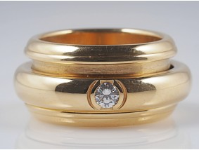 PIAGET POSSESSION RING mit BRILLANT / 750 GOLD / ORIGINAL ZERTIFIKAT und BOX