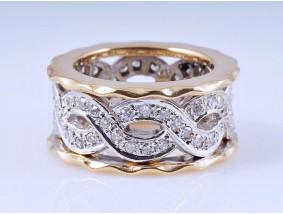Ring Diamanten 750 Gold ca. 10,40 Gramm Italien um 1980 Wert: ca. 2.000,- EUR