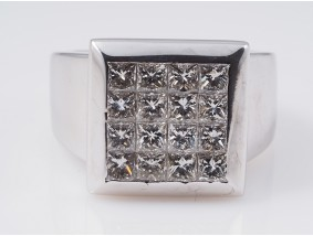 Marken Set Ring Ohrringe 6,80 Karat Diamanten 750 Gold Wert: ca. 15.100,- EUR