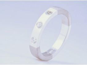 Designer Ring 0,42 Karat Brillanten 500 Palladium 925 Silber