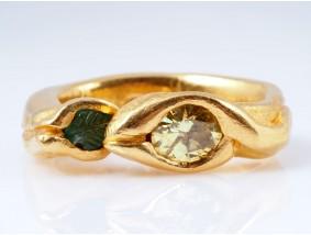 Gisella Seibert-Philippen Ring 1,20 Karat Brillant Jade 900 Gold