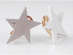 Juwelier Schubart Ohrclips Ohrringe Brillanten 950 Platin 750 Gold