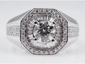 Ring 2,51 Karat Brillant Diamanten 750 Gold Wert: 14.150,- EUR / IGI Expertise