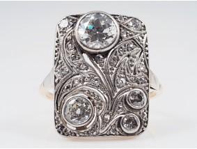 antiker Jugendstil Ring 1,65 Karat Diamanten Gold Platin Wert: ca. 11.500,- EUR