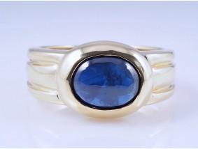 Ring 2,00 Karat Saphir 585 Gelb Gold Deutschland um 1980 - 1990