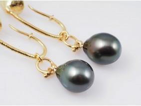 Designer Ohrstecker Ohrringe Tahiti Zucht Perlen 750 Gold 18 Karat