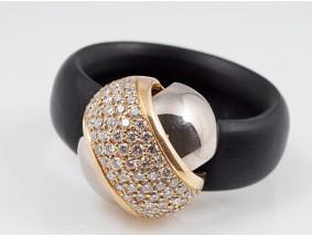 Bunz Kautschuk Ring 0,80 Karat Brillanten 750 Gold neu