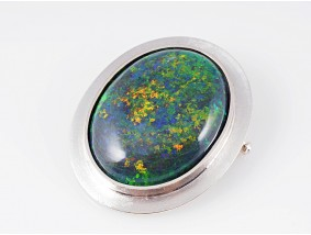 Juwelier Katzler Anhänger Brosche australischer Opal 590 Gold