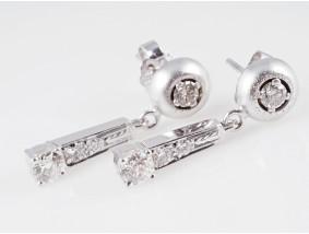 vintage Ohrstecker Ohrringe 1,00 Karat Brillanten Diamanten 585 Gold