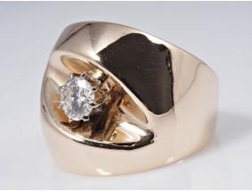 Designer Ring 0,55 Karat Solitär Brillant 585 Gold
