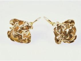 antike Jugendstil um 1910 Ohrringe Diamanten 750 Gold 18 Karat