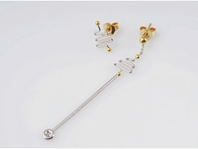 Designer Ohrstecker Ohrringe Brillant 950 Platin 750 Gold 18 Karat