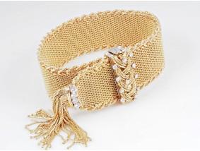 Rene Kern vintage Armband 1,00 Karat Brillanten 750 Gold ca. 116,35 Gramm