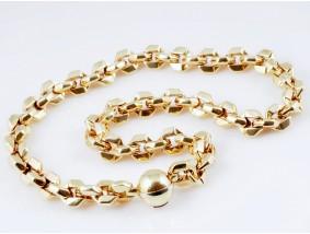 MARKEN KETTE / 750 GELB GOLD / ca. 84,10 GRAMM / ITALIEN um 1990