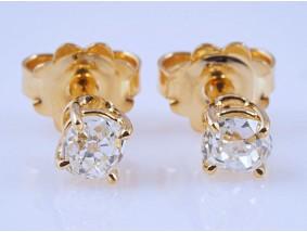 Ohrringe Ohrstecker 0,80 Karat Solitär Diamanten 750 Gold 18 Karat