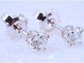 Ohrstecker Ohrringe 0,59 Karat Solitär Brillanten 750 Gold zwei IGI Expertisen