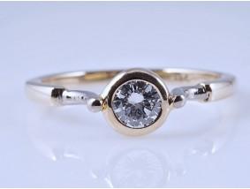 Designer Ring 0,35 Karat Solitär Brillant 585 Gold Wert: ca. 1.700,- EUR