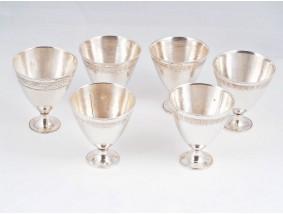 sechs kleine Becher 840 Silber Persien Handarbeit um 1920 ca. 260,60 Gramm