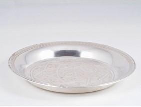 kleine runde Schalle Teller 900 Silber Agypten um 1950