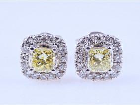 Ohrstecker Ohrringe 0,54 Karat Diamanten Brillanten 750 Gold zwei IGI Expertisen