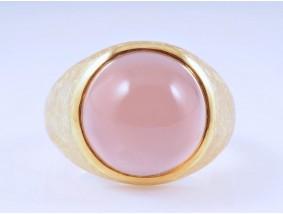 Ring Mondstein 585 Gold ca. 14,20 Gramm Handarbeit Deutschland um 1990