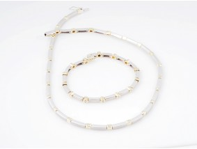 Set Kette Collier Armband 0,75 Karat Brillanten 750 Gold Wert: ca. 6.100,- EUR