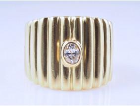 Ring Diamant 750 Gold ca. 10,75 Gramm Deutschland um 1970 Wert: ca. 1.950,- EUR