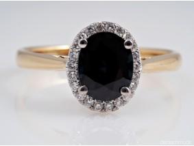 Bicolor Ring Brillanten Saphir 750 Gold IGI Expertise neu
