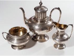 Th. Schumacher antikes Kaffee Service 800 Silber ca. 887,00 Gramm um 1900
