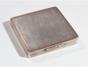 vintage Puder Deckel Dose Spiegel 925 Silber Rosegold ca. 174.00 Gramm