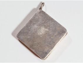 vintage kleine Pillen Deckel Dose zum Aufhänger 800 Silber