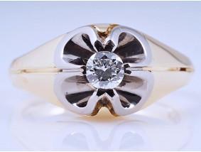 vintage Ring 0,30 Karat Solitär Brillant 750 Gold Wert: ca. 1.750,- EUR