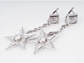 Ohrringe 3,20 Karat Solitär Brillanten Diamanten 750 Gold Wert: ca. 15.210,- EUR