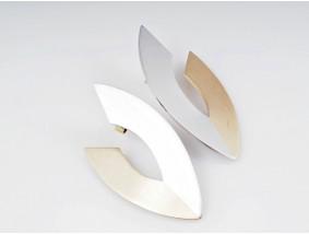 Juwelier Hans Schindler Ohrstecker Ohrringe 950 Platin 750 Gold um 1990