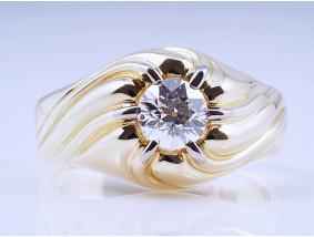 vintage Herren Damen Ring 0,89 Karat Diamant 585 Gold Wert: ca. 4.100,- EUR
