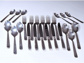 Robbe & Berking Model Art Deco Ess Besteck 6 Personen 24 Teile 999 Silber