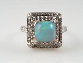 Ring 3,70 Karat Brillanten Voll Opal 750 Gold Wert: ca. 1.880,- EUR