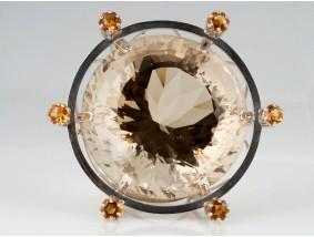 JUWELIER WEISS / KUNSTOBJEKT / EDELSTEINE / 590 GOLD / ca. 116,60 Gramm