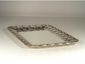 vintage Tablett 800 Silber Handarbeit Italien ca. 1.165 Gramm