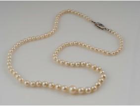 antike Zucht Perlen Gold Kette Rosenschliff Diamant